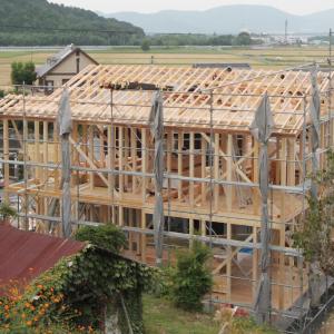 滋賀雁瀬工務店が建てた、土地に合わせた和風な住まい 建設中