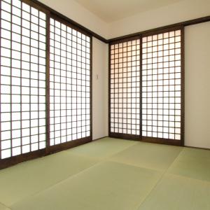 滋賀県雁瀬工務店が建てた、特注の益子障子を使用した和室