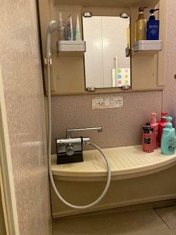 滋賀草津市で浴室カランの取替リフォーム