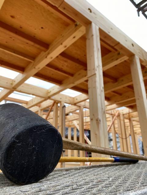滋賀県大津市の小規模多機能型居宅が、施工中