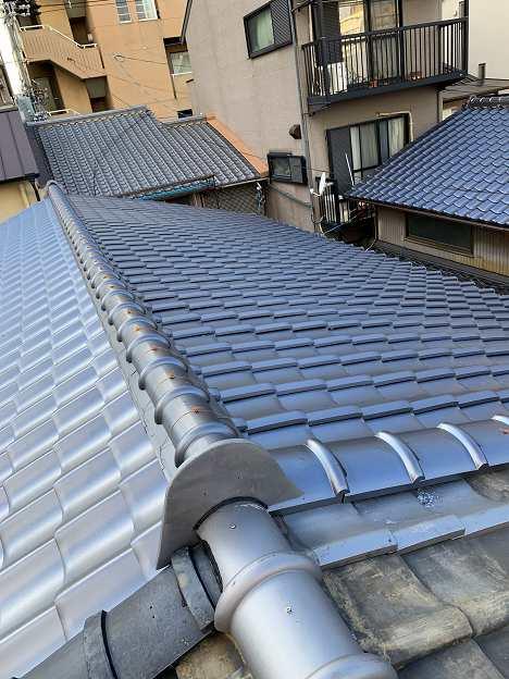京都らしい長屋の屋根の改装工事です!