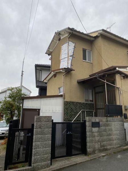 滋賀大津の外壁リフォーム、応急処置後