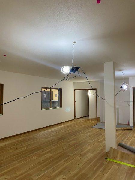 滋賀県大津市の新築物件、内装施工中