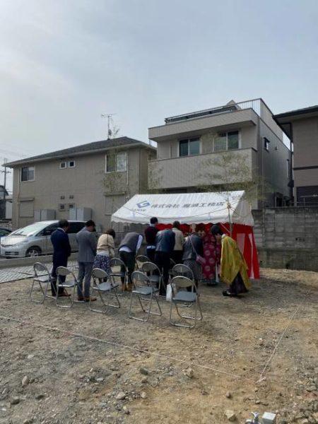 滋賀県草津市で地鎮祭