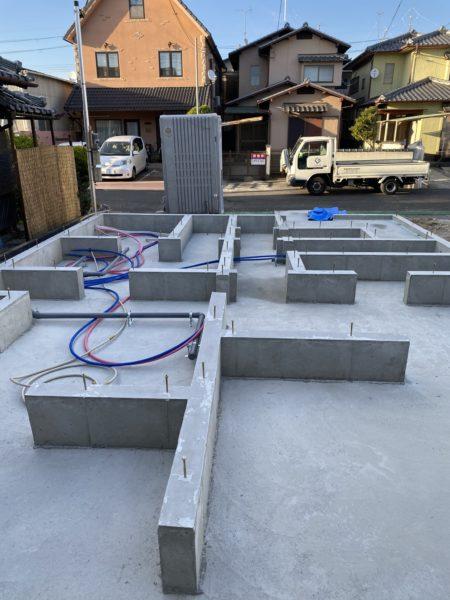 滋賀県草津市新築物件 水道・ガスの仕込み完了