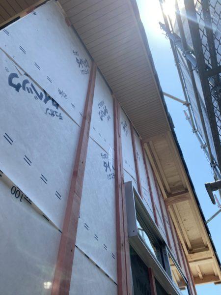 滋賀県草津市新築一戸建て外壁工事