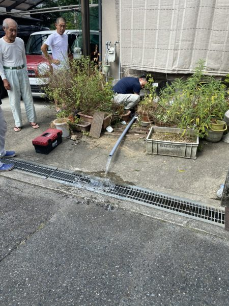 水道の水圧チェック