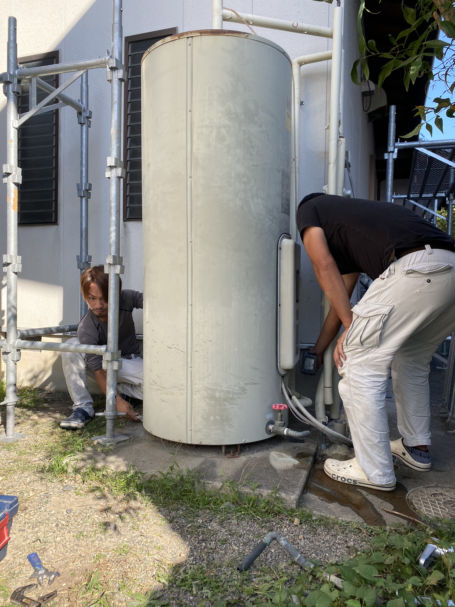 滋賀県草津市で電気温水器から、エコキュートへ交換リフォーム工事!