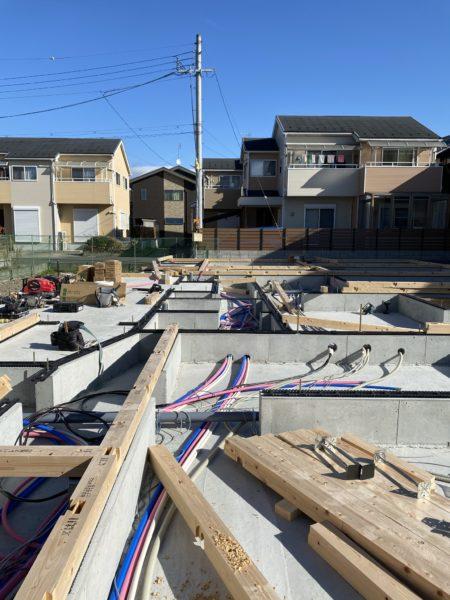 滋賀県草津の新築木造2階建て、土台引き