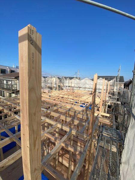 滋賀草津に新築木造2階建て、共同住宅!上棟日