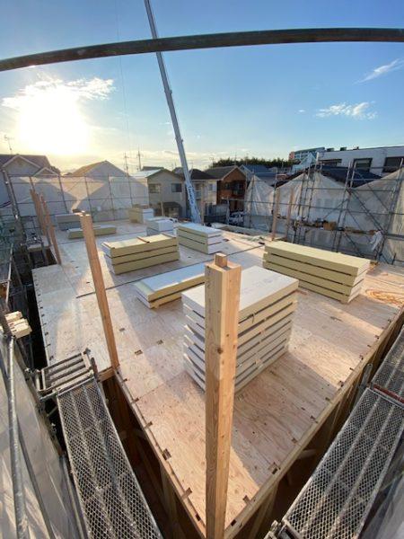 滋賀県草津市の新築アパート、上棟