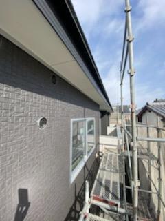 滋賀県草津市の木造新築アパート物件、外壁工事途中