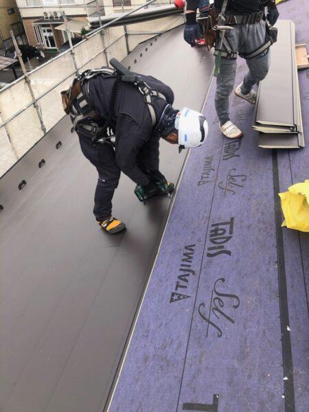 滋賀県草津市で屋根改修リフォーム工事