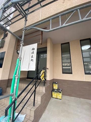 滋賀草津市で外壁塗装リフォーム工事が進行中