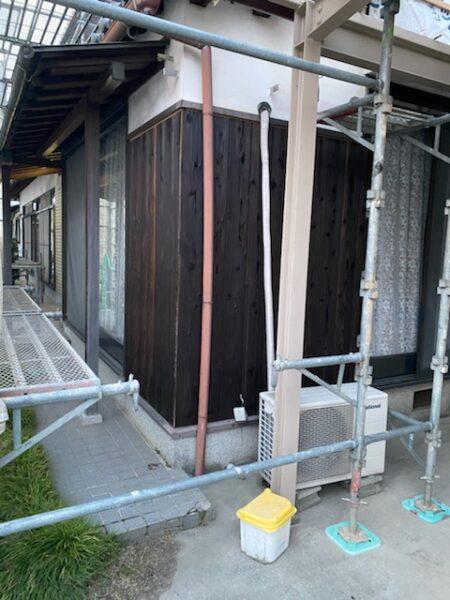 滋賀県草津市で焼板張り替えフォーム工事