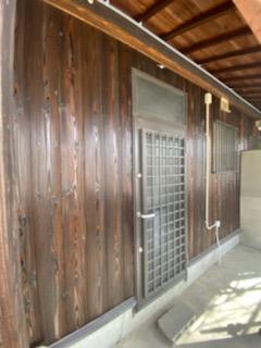 滋賀県草津市の焼板張り替えリフォーム工事