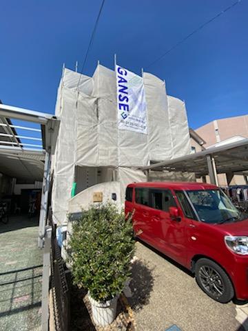 滋賀県草津市の外壁張替え、屋根塗装リフォーム工事