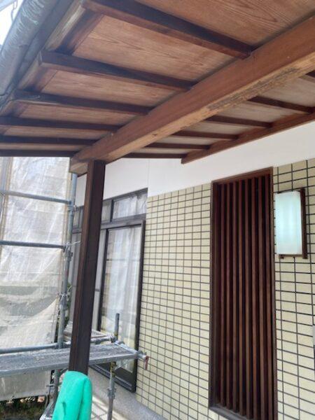 滋賀草津で軒塗装リフォーム工事