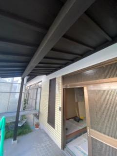 滋賀県草津市の軒塗装リフォーム工事
