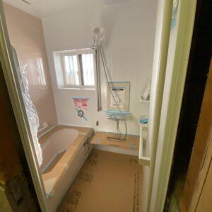 滋賀県草津の浴室改修リフォーム工事 ユニットバス設置後
