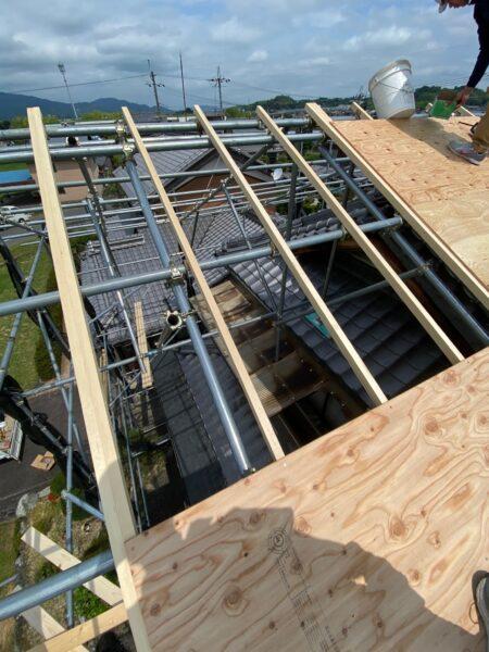 滋賀甲賀市の屋根修繕リフォーム工事
