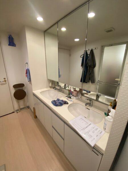滋賀県大津市のマンションリフォーム。洗面台交換工事