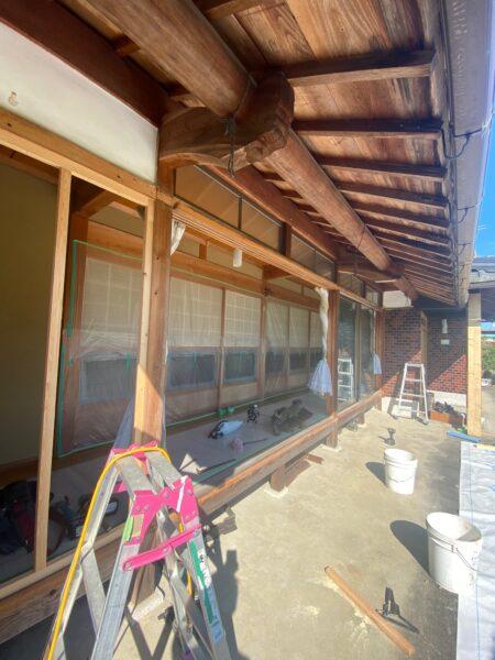滋賀県甲賀市のサッシ交換工事