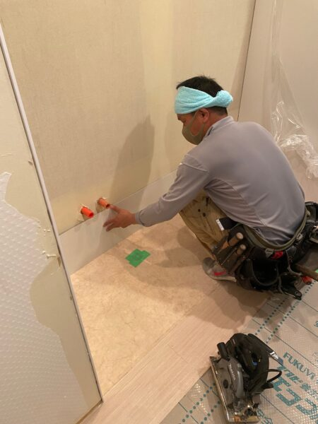 滋賀県大津市のマンション物件。洗面台交換リフォーム工事