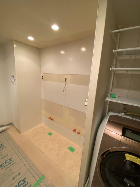 滋賀県大津市のマンション物件、洗面台交換リフォーム工事