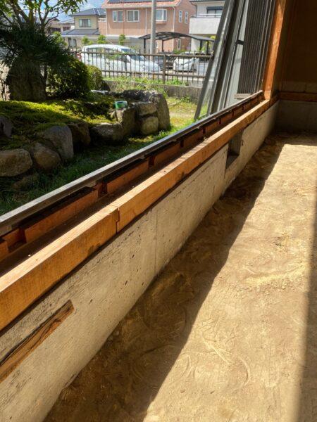 滋賀県草津の床の張替リフォーム工事