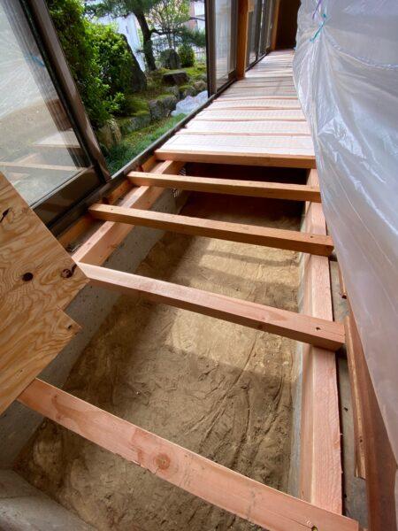 滋賀県草津市の床リフォーム工事